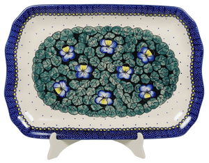 "11.5""x17"" Rectangular Platter (Pansies)"