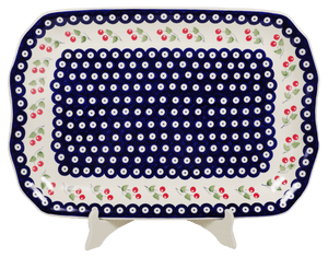 "11.5""x17"" Rectangular Platter (Cherry Dot)"