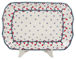 "11.5""x17"" Rectangular Platter (Red Bird)"