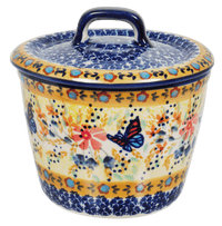 Small Lidded Crock (Butterfly Bliss)