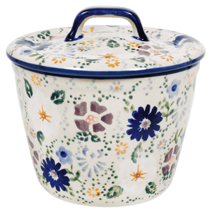 Small Lidded Crock (Scattered Petals)