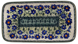 Large Rectangular Dish (Bold Blue Blossoms)