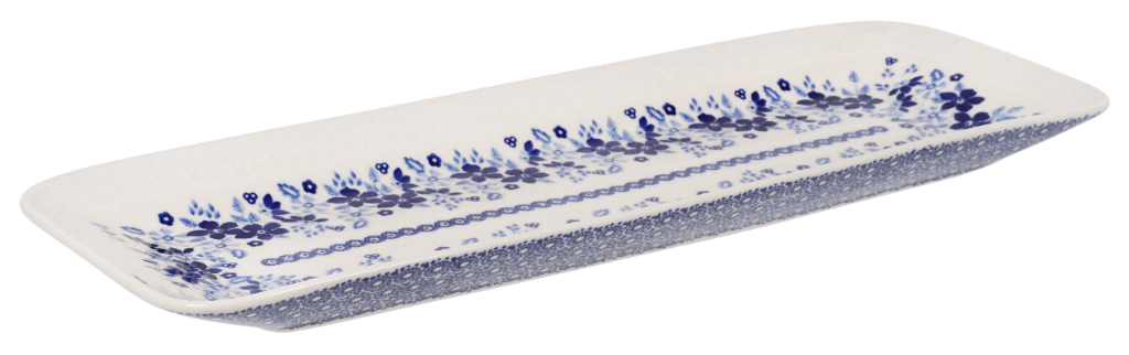 "19.5"" Rectangular Server (Duet in Blue & White)"