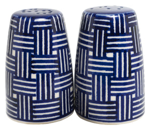 "3.75"" Salt and Pepper (Blue Basket Weave)"