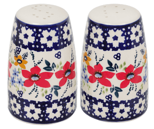 "3.75"" Salt and Pepper (Bold Red Blossoms)"