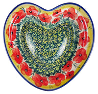Heart Dish (Poppies in Bloom)