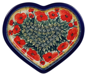Heart Plate (Poppies in Bloom)