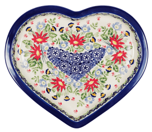 Heart Plate (Floral Fantasy)