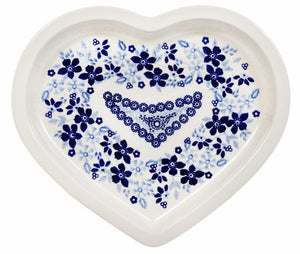 Heart Plate (Duet in Blue & White)