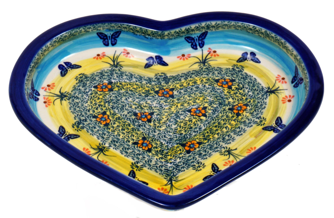 Heart Plate (Butterflies in Flight)