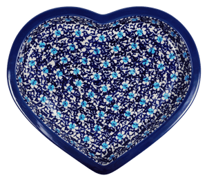 Heart Plate (Blue on Blue)