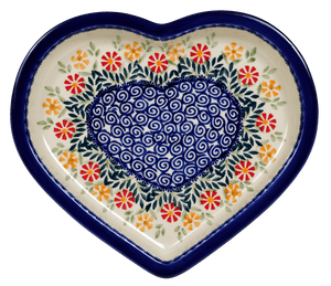 Heart Plate (Flower Power)