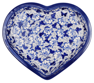Heart Plate (Dusty Blue Butterflies)