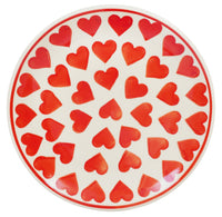 "7.25"" Dessert Plate (Whole Hearted Red)"
