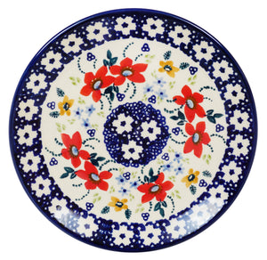 "7.25"" Dessert Plate (Bold Red Blossoms)"