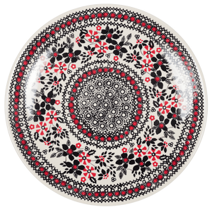 "10"" Dinner Plate (Duet in Black & Red)"