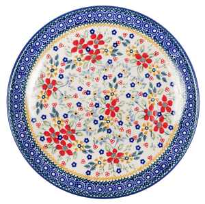 "10"" Dinner Plate (Ruby Bouquet)"