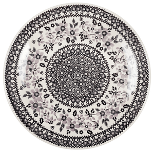 "10"" Dinner Plate (Duet in Black & Grey)"