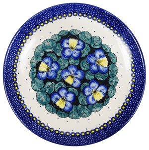 "10"" Dinner Plate (Pansies)"