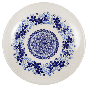 "10"" Dinner Plate (Duet in Blue & White)"