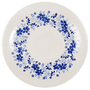 "10"" Dinner Plate (Duet Blue Wreath)"
