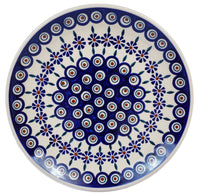 "10"" Dinner Plate (Floral Peacock)"
