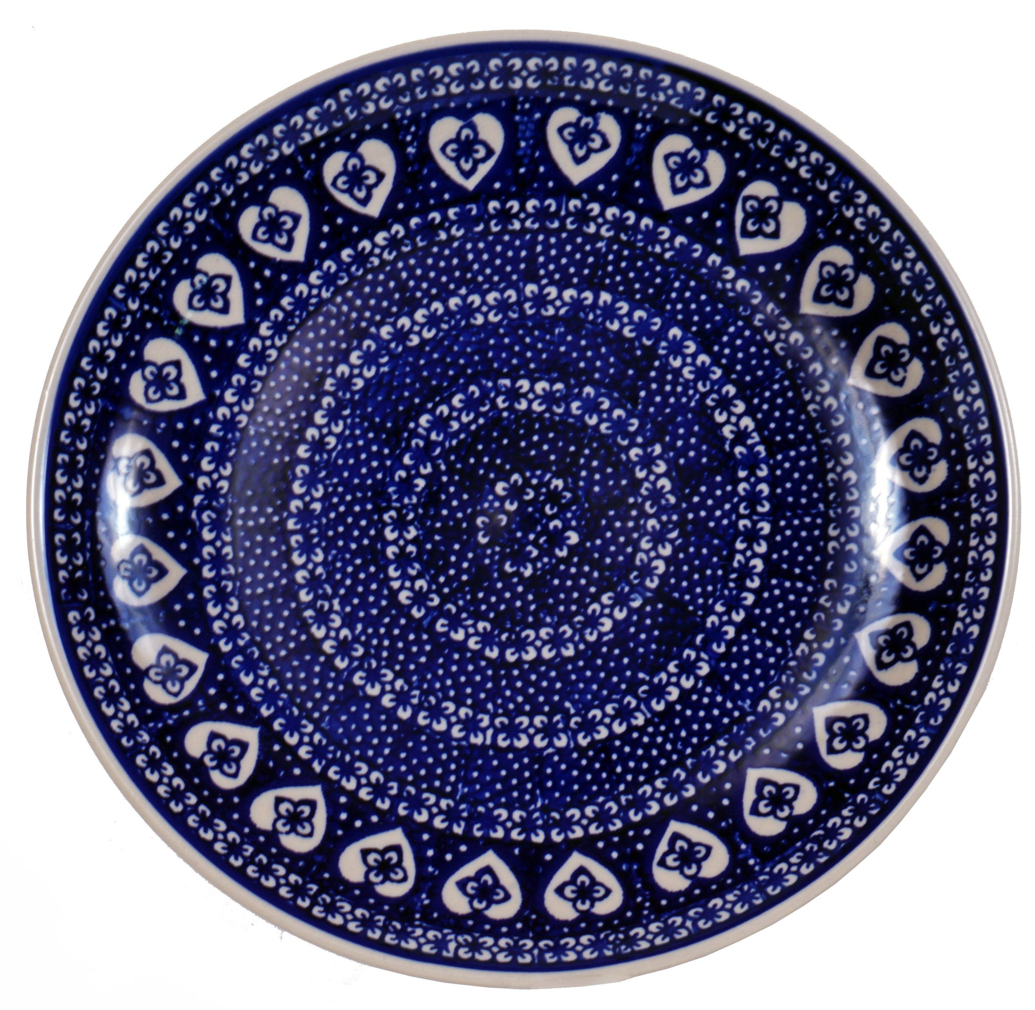 polish pottery 10 dinner plate nordic hearts the. Black Bedroom Furniture Sets. Home Design Ideas