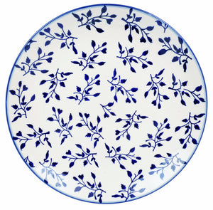 "10"" Dinner Plate (Blue Spray)"