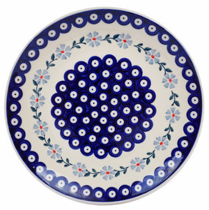 "10"" Dinner Plate (Periwinkle Chain)"