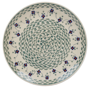 "10"" Dinner Plate (Woven Pansies)"