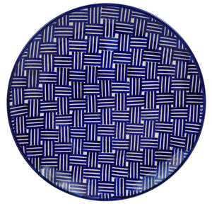"10"" Dinner Plate (Blue Basket Weave)"