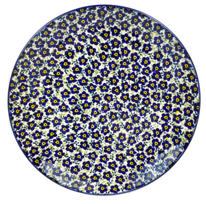 "10"" Dinner Plate (Floral Revival Blue)"