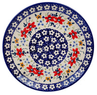 "10"" Dinner Plate (Bold Red Blossoms) 