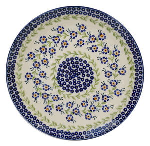 "10"" Dinner Plate (Blue Clematis)"