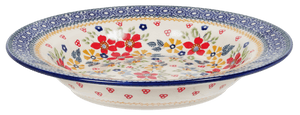 "9.25"" Soup Plate (Ruby Bouquet)"