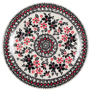 "8.5"" Salad Plate (Duet in Black & Red)"