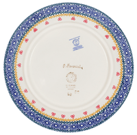 "8.5"" Salad Plate (Ruby Bouquet)"