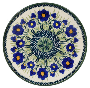 "8.5"" Salad Plate (Bold Blue Blossoms)"