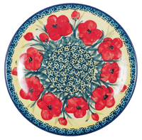 "8.5"" Salad Plate (Poppies in Bloom)"