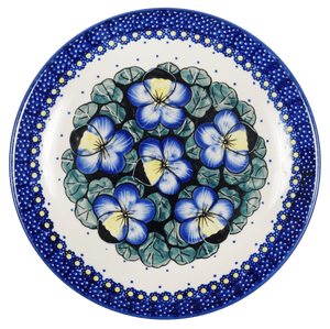 "8.5"" Salad Plate (Pansies)"