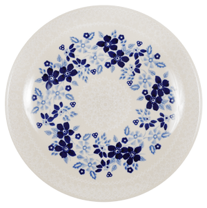 "8.5"" Salad Plate (Duet Blue Wreath)"
