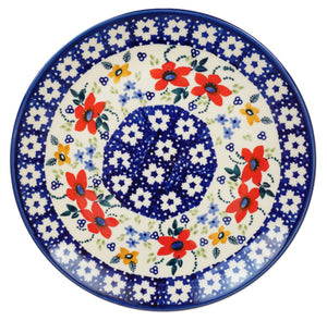 "8.5"" Salad Plate (Bold Red Blossoms)"