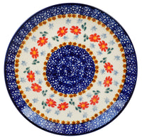 "8.5"" Salad Plate (Red Daisy Daze)"