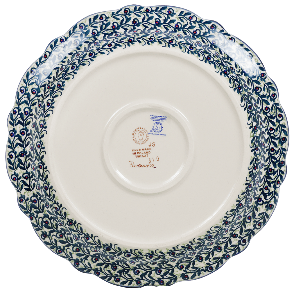 "11.75"" Ornate ""Basia"" Plate (Dragonfly Delight)"