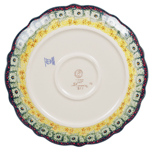 "11.75"" Ornate ""Basia"" Plate (Sunshine Grotto)"
