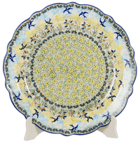 "11.75"" Ornate ""Basia"" Plate (Soaring Swallows) 