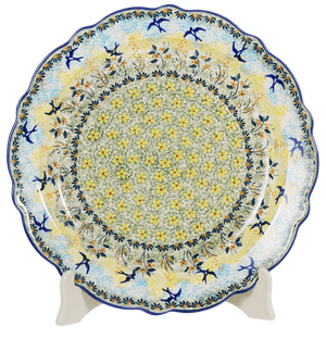 "11.75"" Ornate ""Basia"" Plate (Soaring Swallows)"