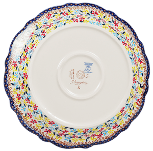 "11.75"" Ornate ""Basia"" Plate (Wildflower Mix)"