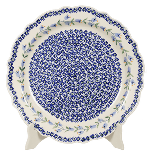 "11.75"" Ornate ""Basia"" Plate (Lily of the Valley)"