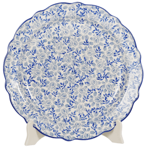 "11.75"" Ornate ""Basia"" Plate (English Blue)"